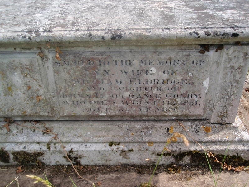 A Golby family tomb